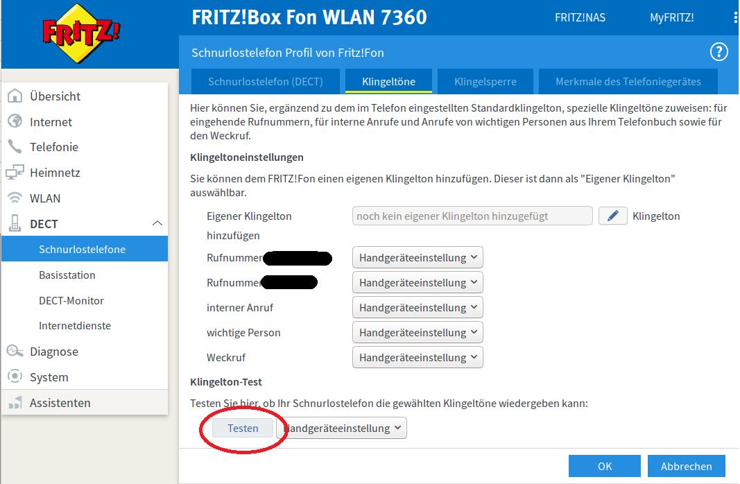 Ortsvorwahl Fritzbox